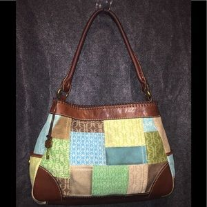 Fossil's Patchwork Shoulder Bag